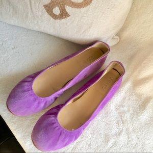 J Crew Italy ballet flats purple lavender 8